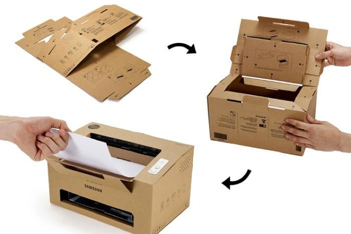 Origami from Samsung, A Foldable Cardboard Laser Printer