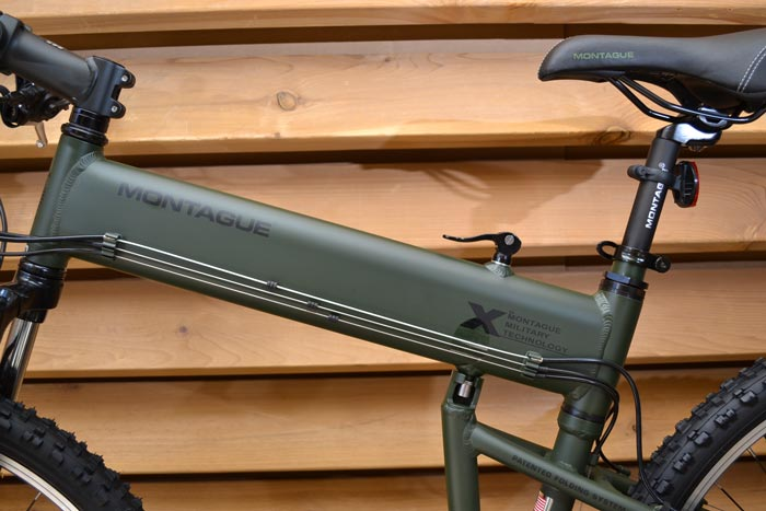 Frame of the Paratrooper Folding Bicycle by Montague