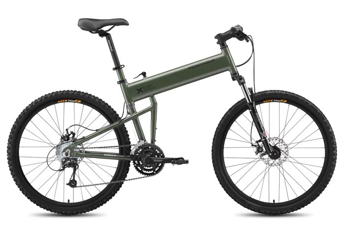 Paratrooper Folding Bicycle by Montague unfolded