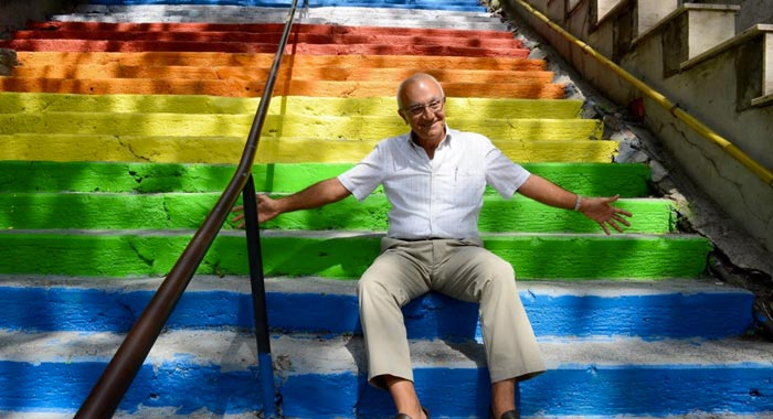 Rainbow Stairs in Istanbul by Huseyin Cetinel on Jebiga