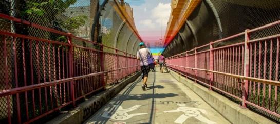 'Rituals' – Yarn Bombing Project on the Williamsburg Bridge by HOT TEA