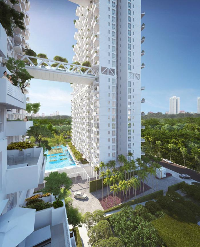 Sky Habitat Condominiums in Singapore Safdie Architects