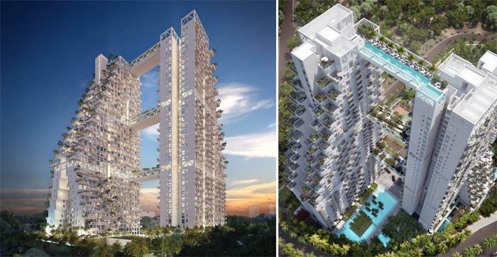 Sky Habitat Condominiums in Singapore Safdie Architects on jebiga