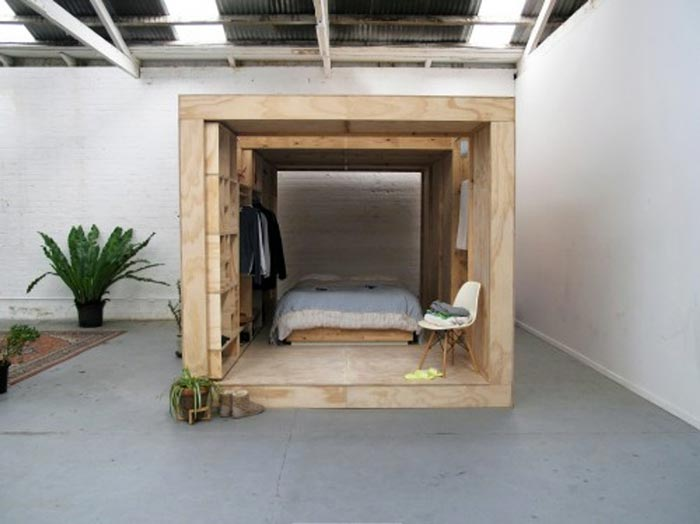 Interior view of the Sleeping Pods by Sibling Nation