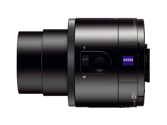 Side view of the Sony DSC-QX100 Smartphone Attachable Lens Camera