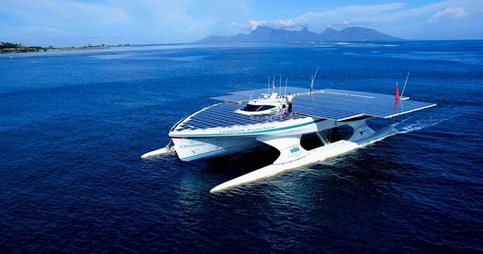 Turanor PlanetSolar World Largest Solar Powered Ship on Jebiga