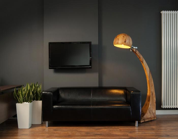 woobia wooden floor lamp by abadoc in the living room