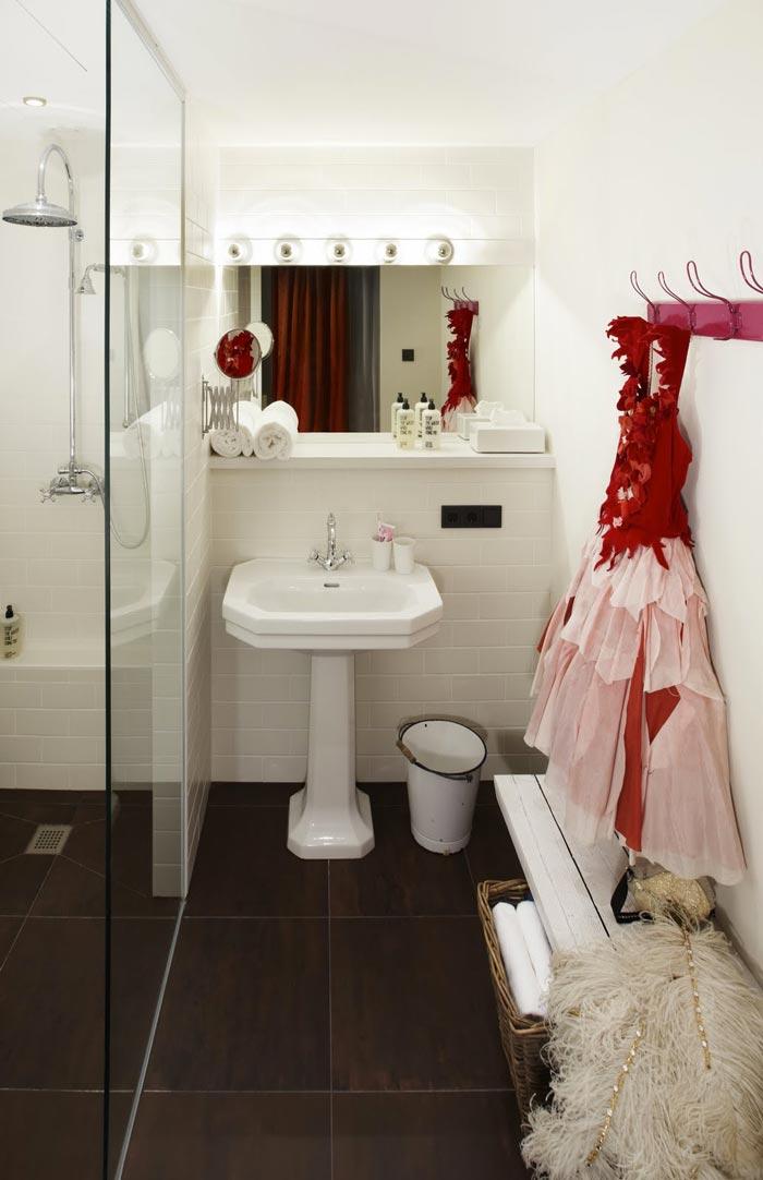 Bathroom design at 25hours Hotel in Wien Vienna