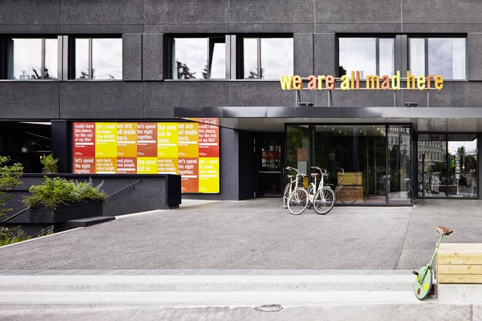 Entrance of the 25hours Hotel Wien at MuseumsQuartier