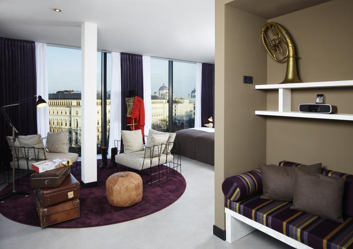 Panoramic Suite at the 25hours Hotel Wien