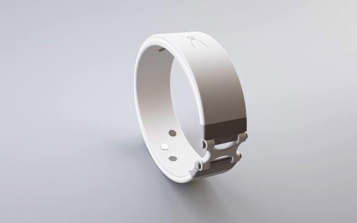 White Angel Wristband - A Health Fitness Sensor