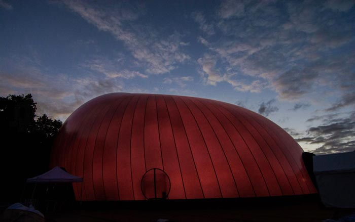 Architecture of the Ark Nova - An Inflatable Concert Hall in Japan