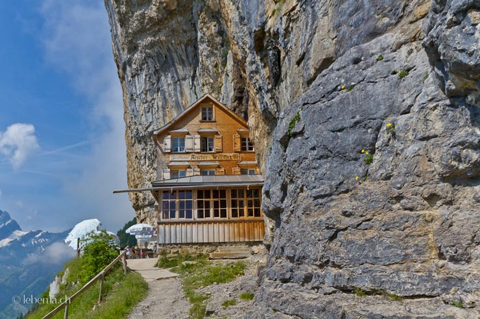 berggasthaus aescher mountain guest house in the swiss alps