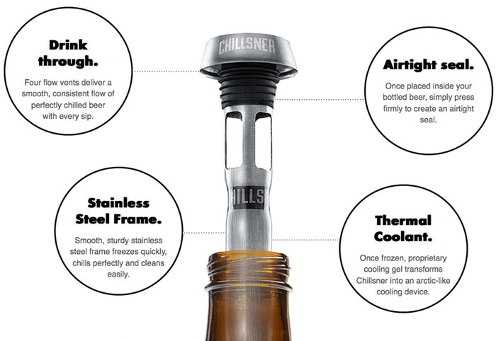 Features of the CHILLSNER Beer Chiller by Corkcicle