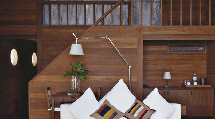 Interior design of a water bungalow