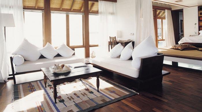 Interior design at Cocoa Island Resort
