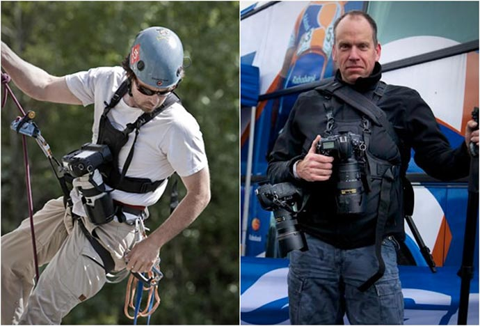 Examples of usage of the Cotton Carrier Camera Carrying Vest System