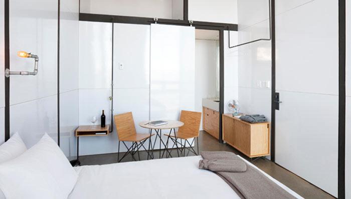 Interior design of a room at ENCUENTRO GUADALUPE ANTIRESORT IN BAJA CALIFORNIA