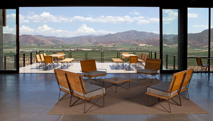 Lounge with a scenery of the mountains at ENCUENTRO GUADALUPE ANTIRESORT IN BAJA CALIFORNIA