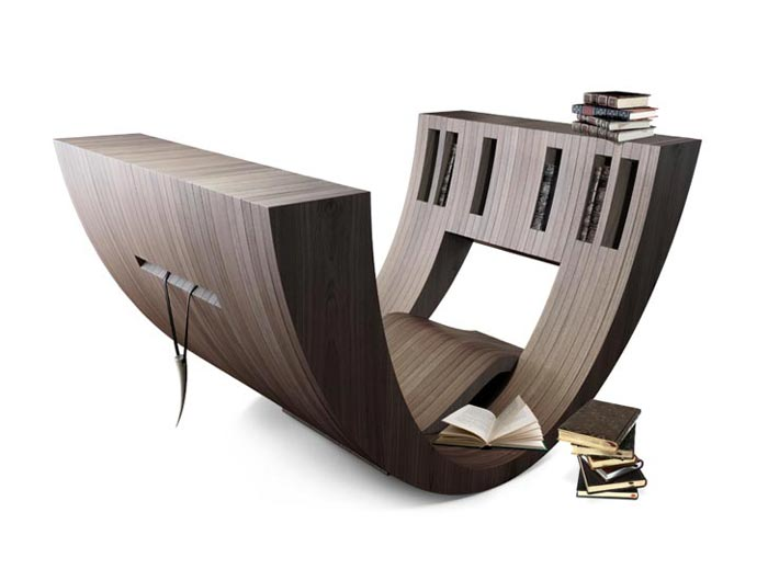 Books stacked on the Kosha Chair - Living Concept Furniture
