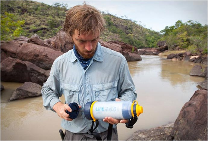 Lifesaver Bottle - A Portable Water Filter System on the field