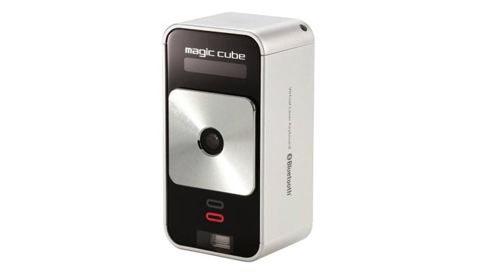 Magic Cube Laser Projection Keyboard Touchpad by Celluon