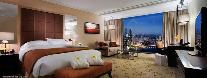 Bedroom design at Marina Bay Sands Hotel in Singapore