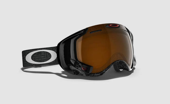 Silver Text/Black Iridium Oakley Airwave 1.5 Goggle