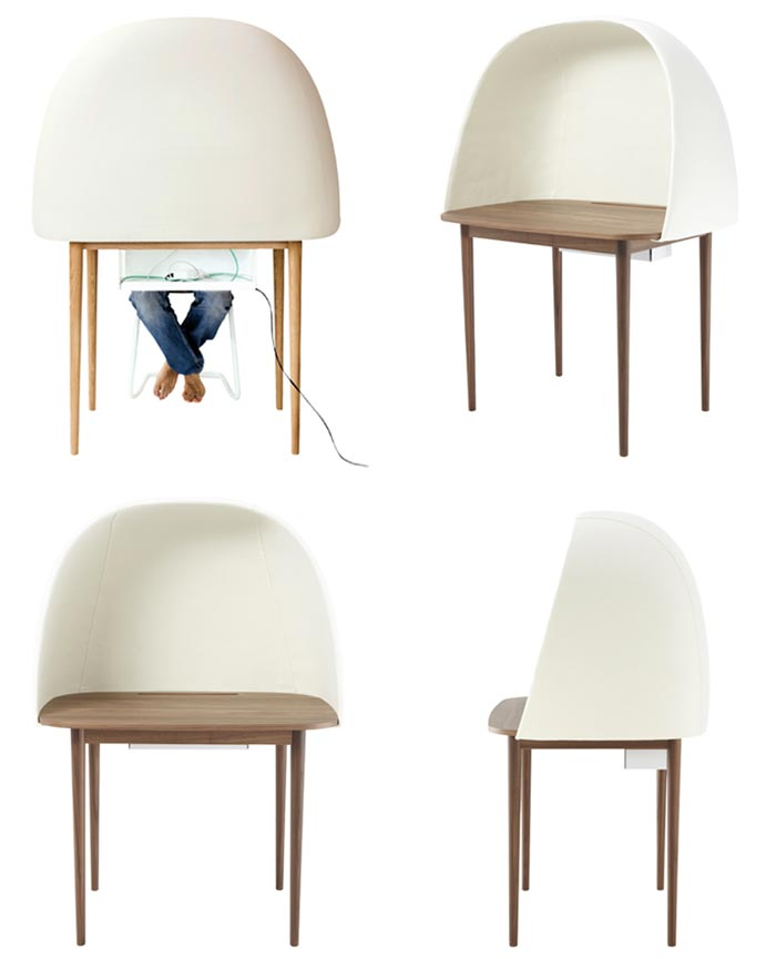 Different views of the Rewrite Desk by GamFratesi and Ligne Roset