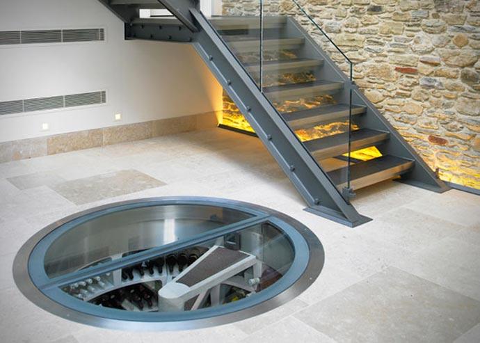 Underground spiral wine cellar - Wine cellar trap door ...