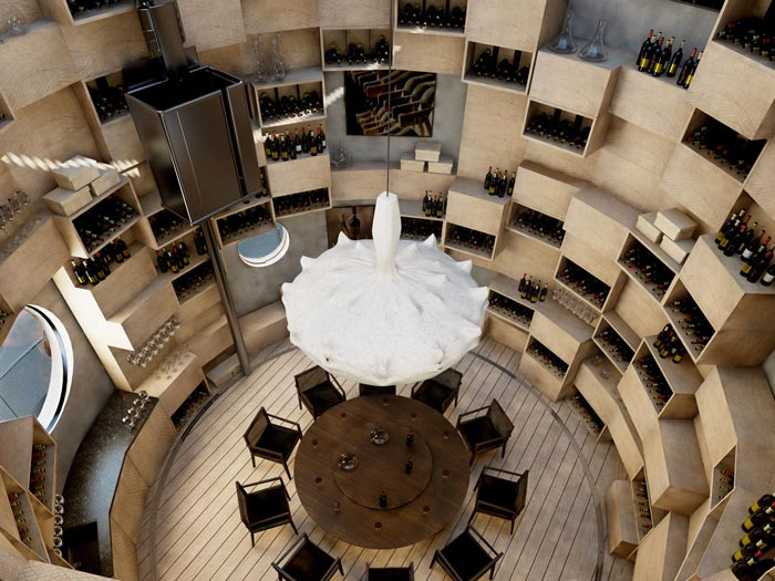 Wine cellar at Velaa Private Island Resort in The Maldives