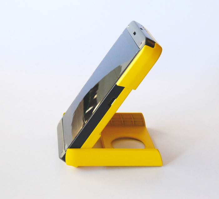 Side view of the WakaWaka POWER Solar LED Lamp and Smartphone Charger