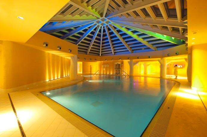 Swimming pool at Aquagranda in Livigno
