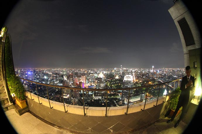 View from the rooftop at Banyan Tree Hotel in Bangkok