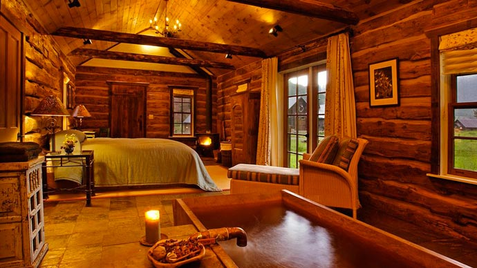 Lodge interior design at Dunton Resort in Colorado