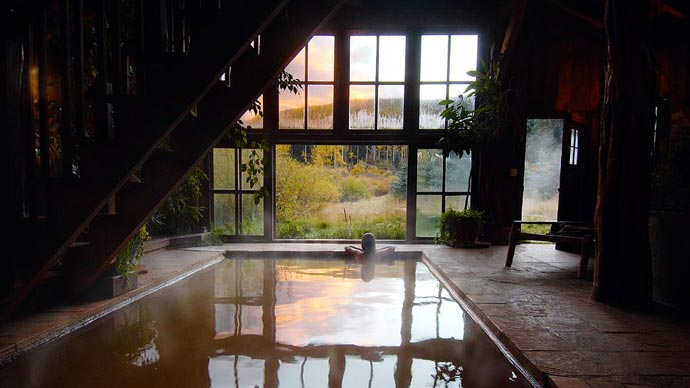 Big warm pool at Dunton Hot Springs Resort