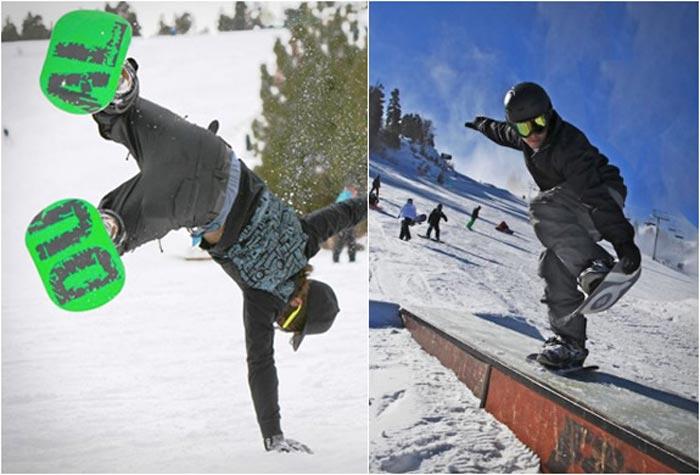Dual Snowboard trick
