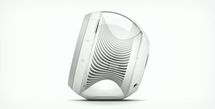 Side view of the Harman kardon Wireless Speaker