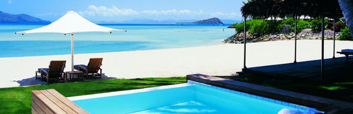 View from the swimming pool at Hayman Resort