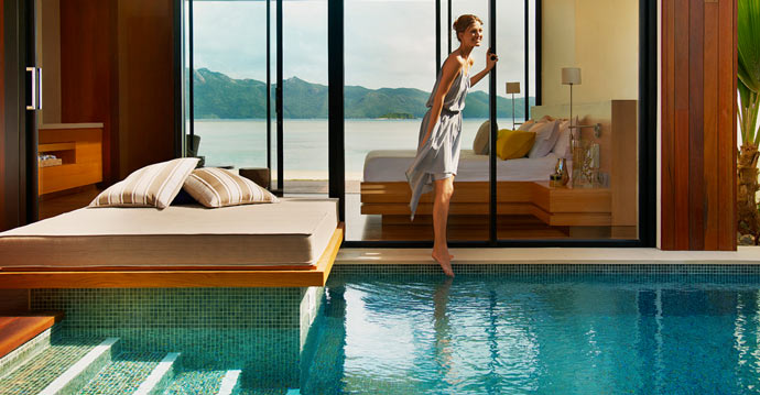 Swimming pool and spa at HAYMAN ISLAND RESORT in AUSTRALIA