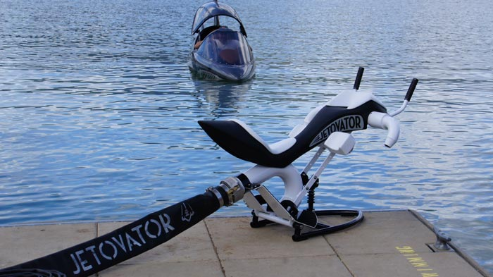 Jetovator Flying Water-Propelled Bike with a Sea-Doo