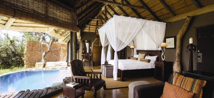 Room design at Leopard Hills Sabi Sand Game Reserve