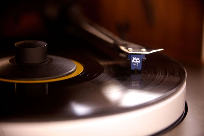 Record playing on the Modern Record Console by Symbol Audio