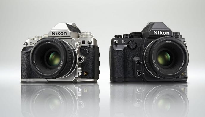 Black and Silver Nikon Df FX-Format DSLR Camera