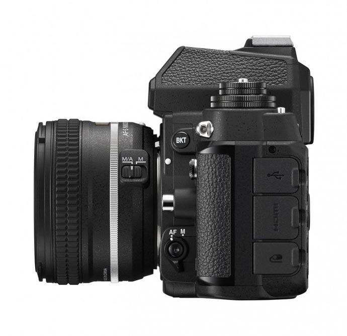 Side view of the Nikon Df