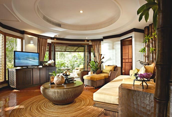 Interior decor of a room at Rayavadee Resort in Thailand