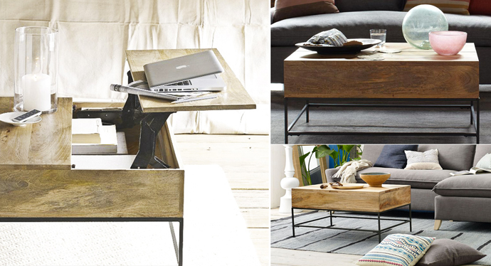 rustic coffee table | west elm