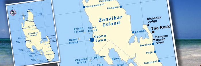 Map and location of The Rock Restaurant in Zanzibar, East Africa