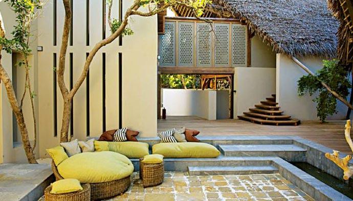 Patio at Vamizi Lodge