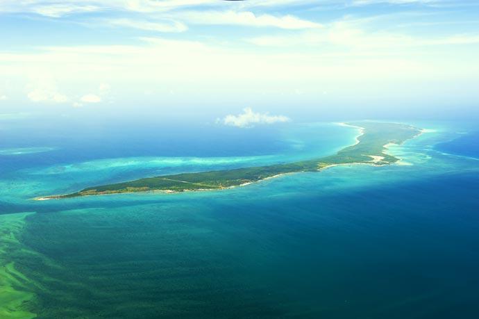 Aerial view of Vamizi Island
